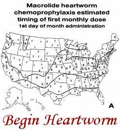 Heartworm Map A